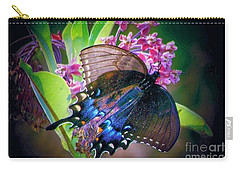 Black Blue Butterfly Carry-all Pouch