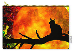 Black Cat Harvest Moon Carry-all Pouch
