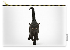 Black Cat On The Run Carry-all Pouch