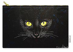 Black Cat Carry-all Pouch by Viktor Lazarev