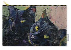 Black Cats Carry-all Pouch by Michael Creese