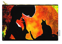 Black Cats Carry-all Pouch by Saundra Myles