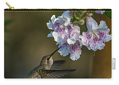Black-chinned Hummingbird Carry-all Pouch by Martina Thompson
