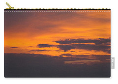Black Cloud Sunset  Carry-all Pouch by Don Koester