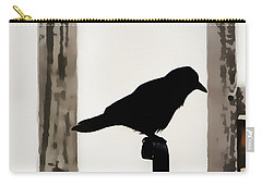 Black Crow At The Globe Theatre Carry-all Pouch