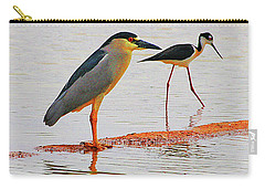 Black Crown Night Heron And Stilt Carry-all Pouch