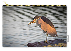 Black Crowned Night Heron At Dawn Carry-all Pouch