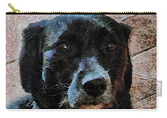 Black Dog Worry Highlights Carry-all Pouch