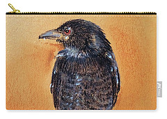 Black Drongo  Carry-all Pouch by Jasna Dragun