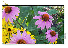 Black Eye Susans And Echinacea Carry-all Pouch