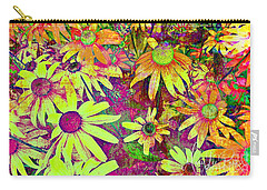 Black-eyed Susan   Abstract  Carry-all Pouch