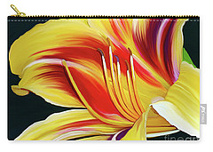 Black-eyed Susan Daylily I Carry-all Pouch by Patricia Griffin Brett