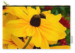 Carry-all Pouch featuring the digital art Black-eyed Susan Floral by Mas Art Studio