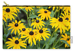 Black-eyed Susan Up Close Carry-all Pouch by E Faithe Lester