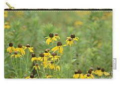 Carry-all Pouch featuring the photograph Black-eyed Susans by Maria Urso