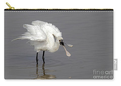 Black-faced Spoonbill Carry-all Pouch by Martin Hale/FLPA