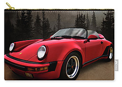 Black Forest - Red Speedster Carry-all Pouch by Douglas Pittman