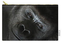 Black Gorilla Smile Carry-all Pouch