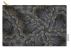 Black Granite Kaleido #1 Carry-all Pouch by Peter J Sucy