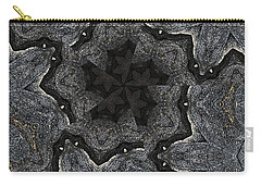 Black Granite Kaleido #2 Carry-all Pouch by Peter J Sucy