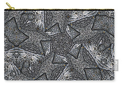 Black Granite Kaleido #4 Carry-all Pouch by Peter J Sucy