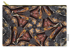 Black Granite Star Kaleido Carry-all Pouch by Peter J Sucy