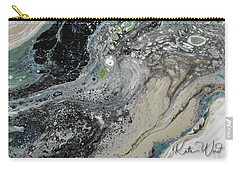 Carry-all Pouch featuring the painting Black Ice 1 by Kate Word