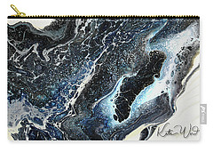 Carry-all Pouch featuring the painting Black Ice 2 by Kate Word