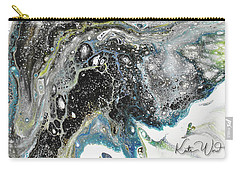 Carry-all Pouch featuring the painting Black Ice 3 by Kate Word