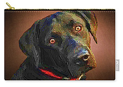 Black Lab Goes To The Studo Carry-all Pouch