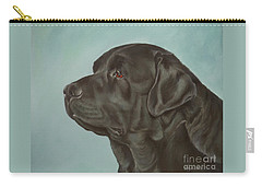 Black Labrador Dog Profile Painting Carry-all Pouch