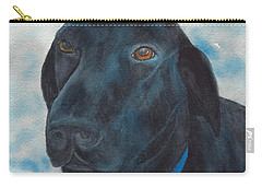 Black Labrador With Copper Eyes Portrait II Carry-all Pouch