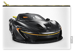 Black Mclaren P1 Plug-in Hybrid Supercar Sports Car Isolated Carry-all Pouch
