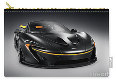 Black Mclaren P1 Plug-in Hybrid Supercar Sports Car Carry-all Pouch