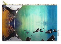 Black Necked Crane Carry-all Pouch by Suzanne Handel
