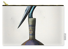 Black Necked Stork Stuffed Inside The Gilded Bottle Carry-all Pouch