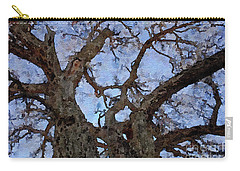 Carry-all Pouch featuring the painting Black Oaks by Mark Greenberg