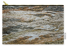 Carry-all Pouch featuring the photograph Black Obsidian Sand And Other Textures by Sue Smith