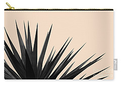 Black Palms On Pale Pink Carry-all Pouch