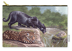 Black Panther And Jaguar Carry-all Pouch