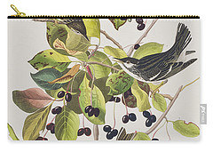 Black Poll Warbler Carry-all Pouch by John James Audubon
