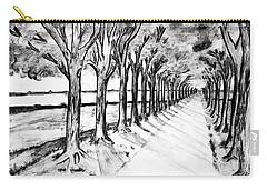 Black Promenada Carry-all Pouch by Ramona Matei