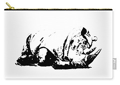 Carry-all Pouch featuring the ceramic art Black Rhino by Elizabeth Lock