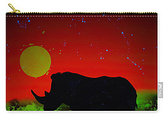 Black Rhino  Evening Carry-all Pouch by Justin Moore