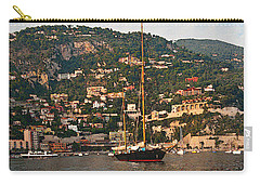 Black Sailboat At Villefranche II Carry-all Pouch
