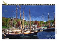 Black Sailboats Carry-all Pouch