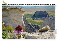 Black Sampson In The Badlands Carry-all Pouch