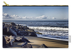 Black Sand Beach  Carry-all Pouch by Douglas Barnard