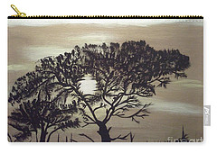 Black Silhouette Tree Carry-all Pouch
