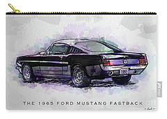 Black Stallion 1965 Ford Mustang Fastback Carry-all Pouch